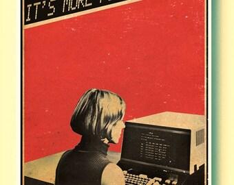 Kraftwerk It's More Fun To Compute vintage computer Poster Art Print