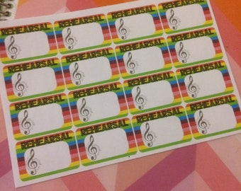 Rehearsal/Theater/Music Planner Stickers