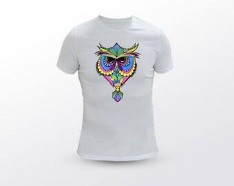 Owl T Shirt, Abstract T Shirt, Abstract Tee, Animal T Shirt, Bird T Shirt, Owl Tee, Animal Tee, Bird Tee, Bird Lover, Owl Lover