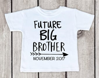 Big Brother Announcement Shirt, Add Your Due Date, Pregnancy Reveal Shirt, Soon To Be Big Brother Shirt, Future Big Brother Shirt, Arrows
