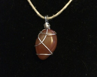Wire Wrapped Carnelian Agate
