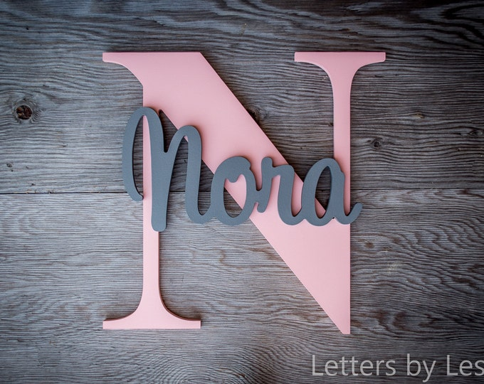 Large - Wood Letters, Wooden Letters, Wood sign, Name Plaque, Name signs, Custom made signs, Wall Art, Wall hanging sign