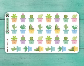 30 Cactus Stickers / Planner Stickers