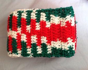 Cute handmade crochet skinny Christmas scarf