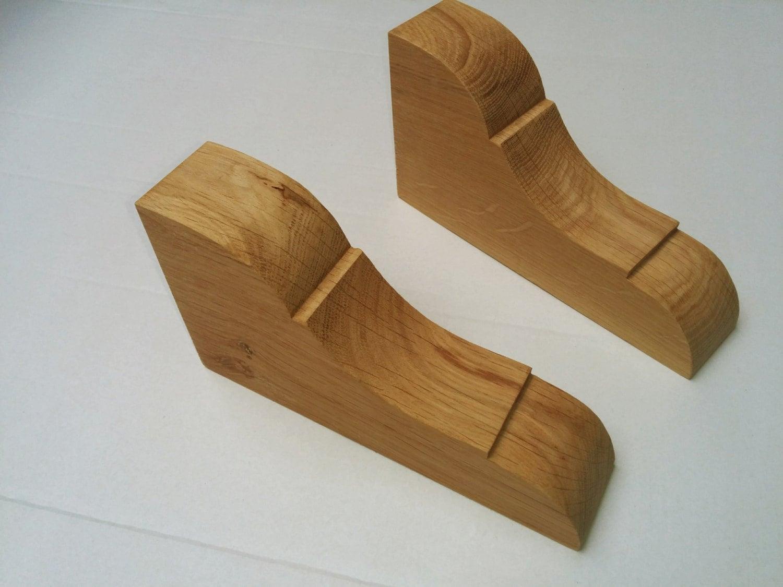 Oak Corbel Pair For Decorative Or Shelf Bracket Support