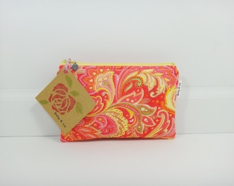 Bali Small Cosmetic Bag, Small Pouch, Makeup Bag, Small Pouch Purse, Small Cosmetic Pouch, Zipper Pouch, Makeup Pouch