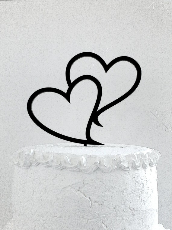 heart wedding cake toppers uk two hearts wedding cake topper cake topper 15185