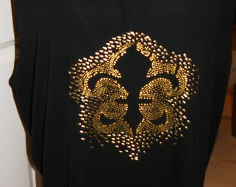 Plus Size Black and Gold Blouse