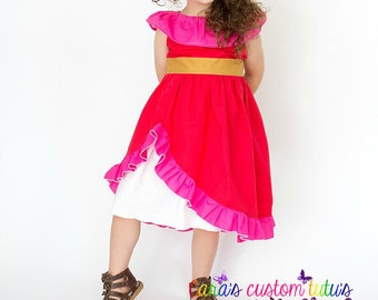 Elena Dress- Elena Outfit-  Elena Costume- Elena Birthday Party- Princess Dress- Princess Elena- Elena of Avalor- Halloween Costume