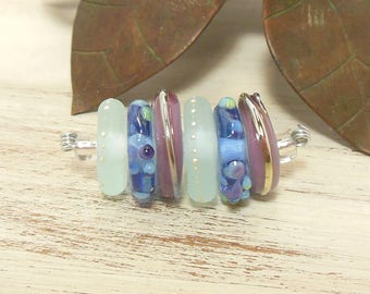 Quinlan Glass Discs Handmade Lampwork Glass Beads