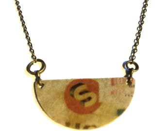 Distressed S Necklace