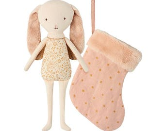 ANGEL BUNNY, party decoration, tree, Christmas, rabbit, Angel, and his Christmas boot advent angel, with stocking