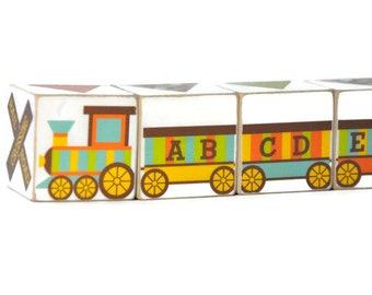 Train Toy ABC Train Wooden Blocks
