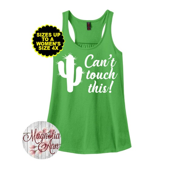 Can't Touch This Cactus, Women's Racerback Tank, Plus Size Tank, Plus Size Racerback, Summer Tank Top, Plus Size Clothing, Plus Size Shirt