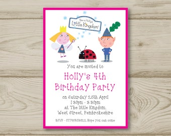 Ben and Holly Birthday Party Invitations Personalised