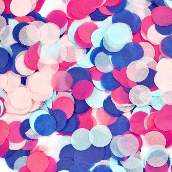 Gender Reveal Confetti, Navy Pink Confetti, Shred, Table Decor, Confetti Balloon, Gender Reveal, Baby Announcement, Baby Shower, Boy or Girl