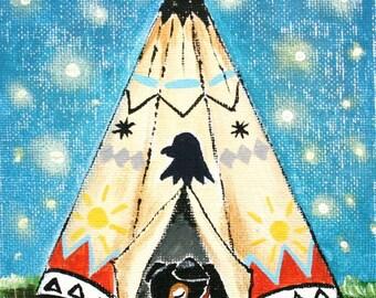 Sleeping Hawk- PRINT 8x10