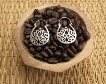 Earrings - lotus flower