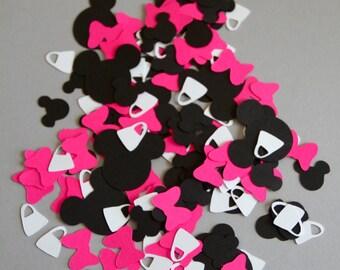 Minnie Mouse confetti, minnie mouse birthday, confetti