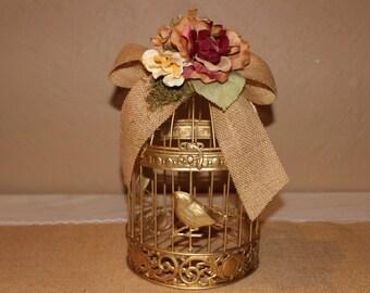 Wedding Birdcage Cardholder / Rustic Wedding Birdcage / Wedding Cardholder