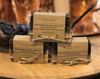 Peppermint and Earl Grey Tea - Handmade Natural Goats Milk Soap