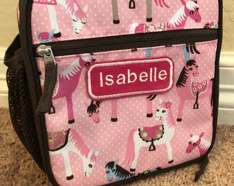 Pink Pony Lunchbox Pottery Barn Monogrammed Personalized