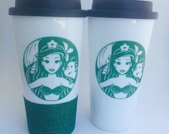 Coffeehustlesleeprepeatglittertravel Cupglitter