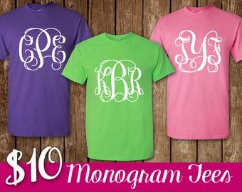 Monogram Shirt Personalized Short Sleeve Monogram T-Shirt Shirt Monogram Tee Unisex