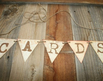 Destination Wedding Card Banner, Cards Banner,  Wedding Garland, Wedding Card Banner, Rustic Wedding