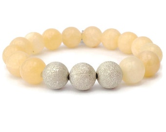 Honey Quartz Chunky Gemstone Stretch Bracelet