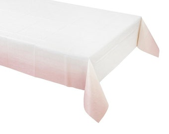 Pink Tablecloth, Table Cover,Pink and White,Pink Party Decor,Party Tablecloth,Girl Birthday,Its a Girl Shower,Baby Shower, Baby Shower Decor