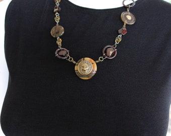 Handmade Lion Face Pendant Necklace