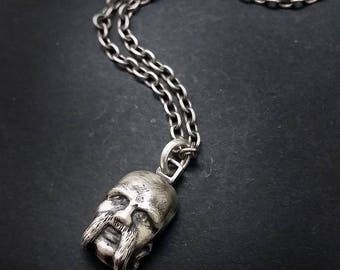 Metalhead - Hand Carved and Sand Cast Silver Charm or Pendant