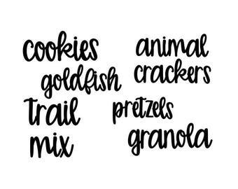 Pantry Labels, Kitchen Canister Labels, Kitchen Organization, Kitchen Storage, Refridgerator Labels, Jar Labels, Kitchen Labels, Herb Labels
