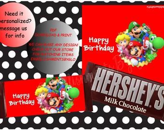 Mario Brothers Candy Bar Wrapper/Mario Bros