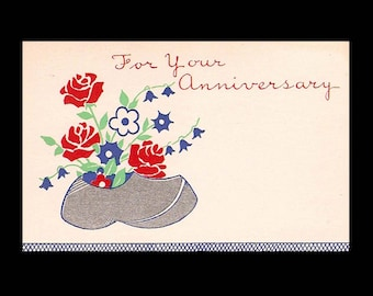 Vintage Floral Shop Gift Tags and Greetings - Anniversary