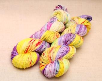 hand dyed yarn 'Heart's Delight' Aran