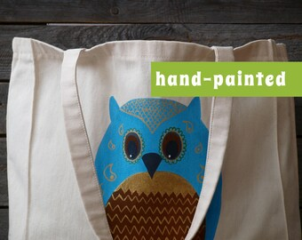 Owl Bag/ Owl Gifts/ Owl Tote Bag/ Canvas Bag/ Owl Art/ Owl Tote/ Owl Decor/ Eco Bag, Cotton Tote Bag, Animal Tote, Animal Tote Bag