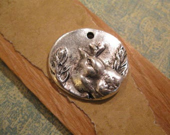Shenandoah Bird Charm in Antique Silver from Nunn Design
