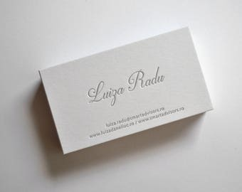 150 Custom Letterpress Business Cards