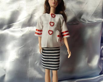 "dress 56 ""smart à la mer"" Doll type barbie"