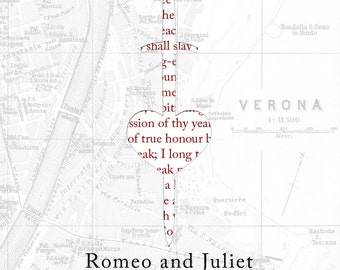 ROMEO and JULIET Poster Shakespeare quote Literature print
