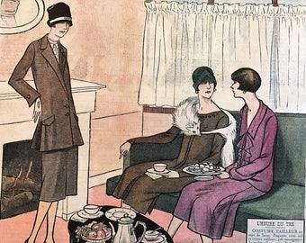 1920's French Magazine FASHION  Le Petit Echo de la Mode February 7 1926