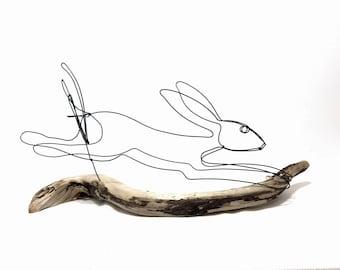 Hare Wire Sculpture, Rabbit Wire Sculpture, Bunny Art, 553822192