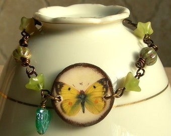 Butterfly Bracelet,Butterfly Jewelry,Ephemera Jewelry