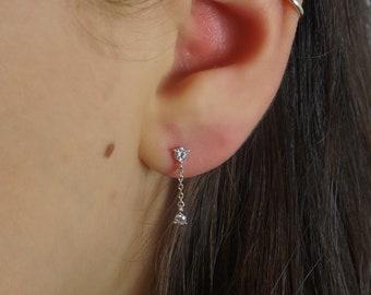 Swarovski crystal drop earrings in sterling silver plate