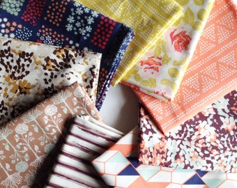 9 piece Cultivate fabric bundle. Designed by Bonnie Christine for Art Gallery Fabrics
