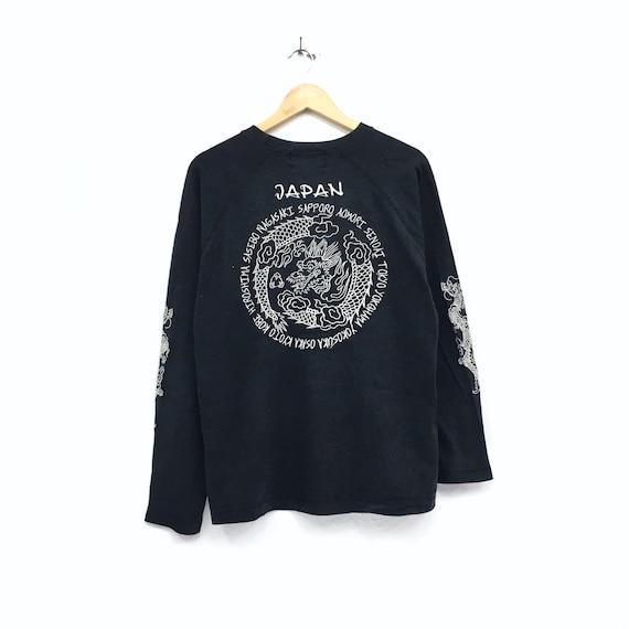 Dragon Design Japan Vintage Biglogo Sukajan Sukajan Souvenir Hiphop Embroidery japanese brand Japan Rare Sweatshirt Shirt ZtzWWg