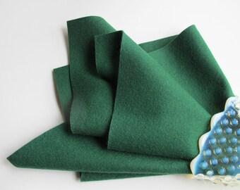 Pine Tree Green, Wool Felt Sheet, Choose Size, 100% Merino, Felted Wool, Toxin Free, Dark Green, Wool Applique, Waldorf Handwork, Craft Felt