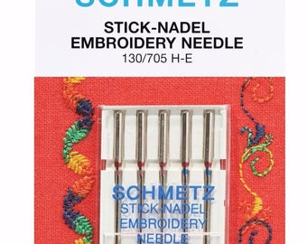 Schmetz Embroidery Needles Size 75 And 90